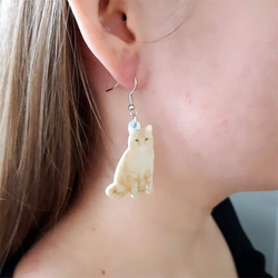 Vaalea kissa-korvakorut