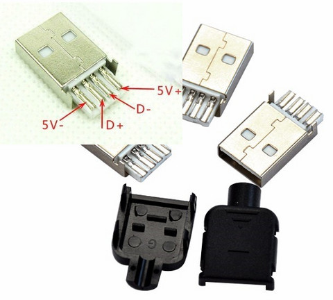USB -urosliitin 4 pin A-tyyppi 10 kpl
