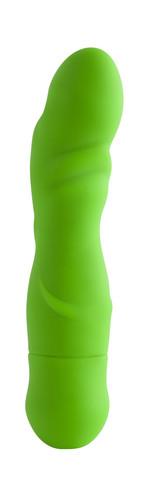 FRENZY 10 FUNCTION SILICONE VIBE GREEN -vibraattori -neonvihreä
