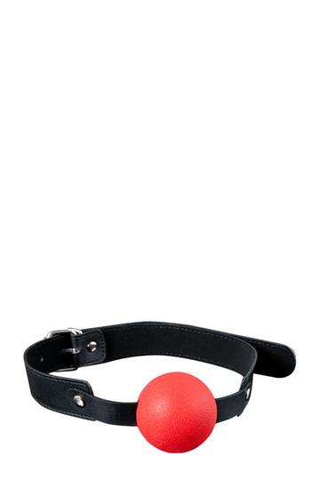 Solid Silicone Ball Gag - punainen suupallo