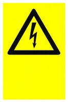 Sähköala salama Omalla tekstillä kyltti