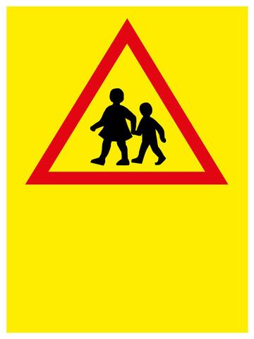 Varo leikkiviä lapsia kyltti Omalla tekstillä