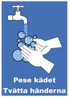 Pese kädet 2 suomi-ruotsi tarra.