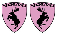 Volvo hirvitarra pinkki pari