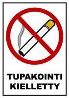 Tupakointi kielletty kyltti