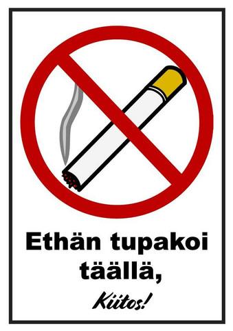 Tupakointi kielletty 2 kyltti