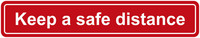 Muista turvaväli lattiatarra englanti