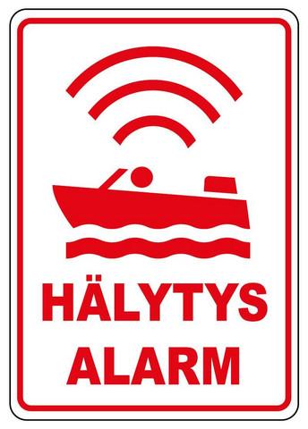 Veneessä hälytys-alarm