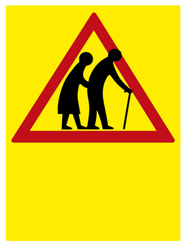Varo vanhuksia kyltti Omalla tekstillä