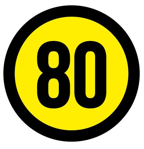 Nopeustarra 80 km/h