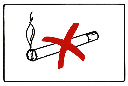 Tupakointikielto tarra 30x20