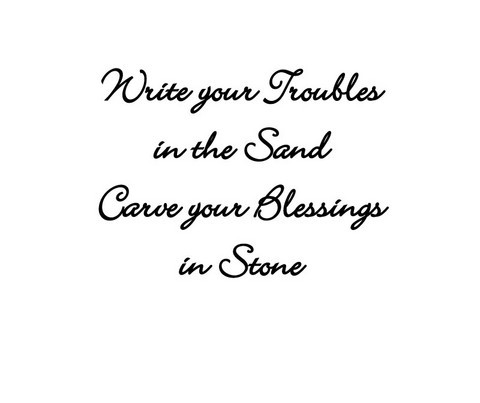 Write your troubles