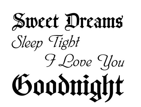 Sweet dreams & goodnight