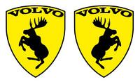 Volvo hirvitarra keltainen pari