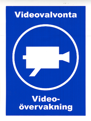 Videovalvonta kyltti