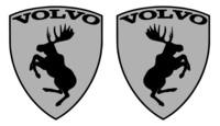 Volvo hirvitarra hopea pari