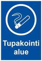 Tupakointi alue kyltti