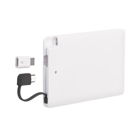 Powerbank 2400 matkalaturi (valkoinen)