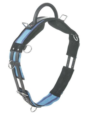 Kahvallinen ratsastusvyö: sini/musta