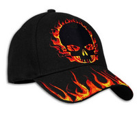 flaming skull lippis MU134