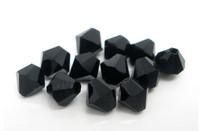 4mm Kristallibicone: Musta 20kpl