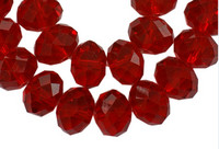 8mm Kristallilasihelmi: Punainen 10kpl