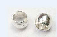 2mm Puristushelmi: Hopeoitu 100kpl