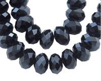 6mm Kristallilasihelmi: Musta 15kpl