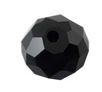 10mm Kristallilasihelmi: Musta 10kpl