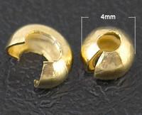 Päällyshelmi 4mm: Kullattu 15kpl