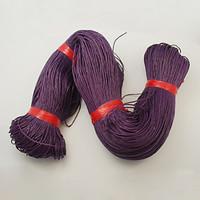 1mm Vahattu puuvillanauha: Violetti