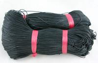 1mm Vahattu Puuvillanauha: Musta
