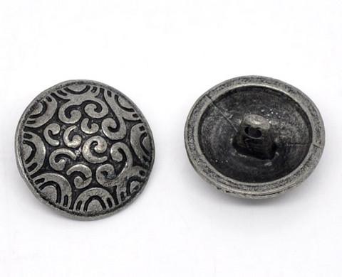 20mm Metallinappi: Antiikkihop. 1kpl