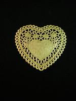Sydän-Pitsipaperi: Kulta 5kpl