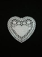 Sydän-Pitsipaperi: Hopea 5kpl