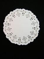11cm Pitsipaperi: Valkoinen 5kpl