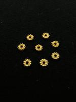 6mm Rondelli: Kullattu 20kpl