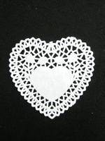 Sydän-Pitsipaperi: Valkoinen 5kpl