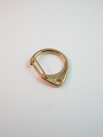 Pyöreä avaimenperälukko: Kulta 1kpl