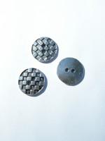 17mm Metallinappi: Antiikkihopea 1kpl