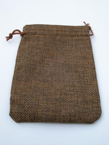 14x10cm Juuttipussi: Tummanrusk.