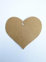 Kartonki-tagit: Sydän 5kpl