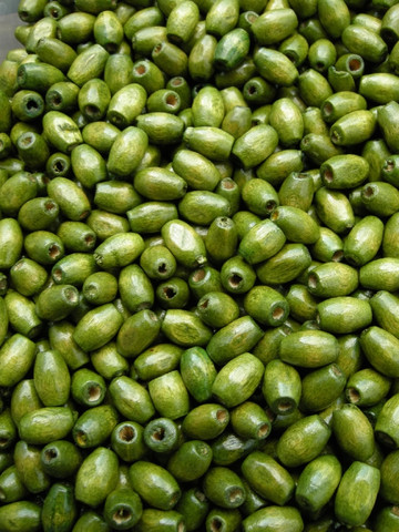 5x8mm Puuhelmet: Vihreä 100kpl