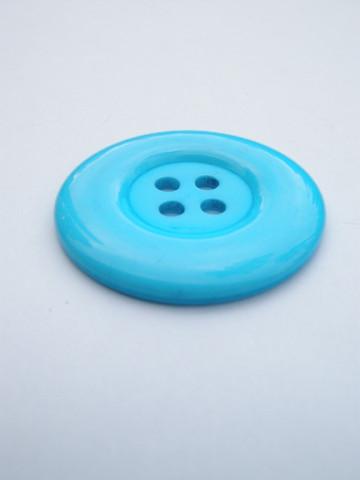 34mm Suuri muovinappi: Sininen 1kpl