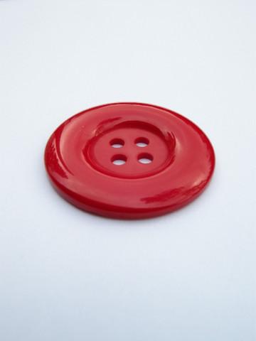34mm Suuri muovinappi: Punainen 1kpl