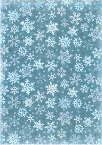 Glitterpaperi: Lumihiutale 1kpl