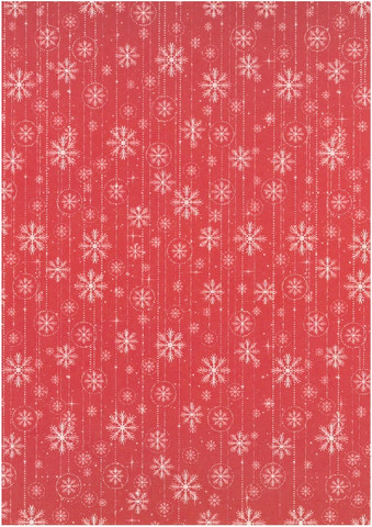 Desing-kartonki: Lumihiutale 1kpl