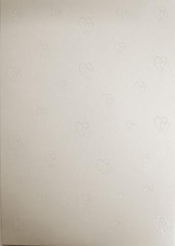 Glitterpaperi: Sydän luonnonval.1kpl