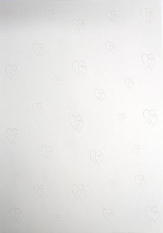 Glitterpaperi: Sydän valk.1kpl