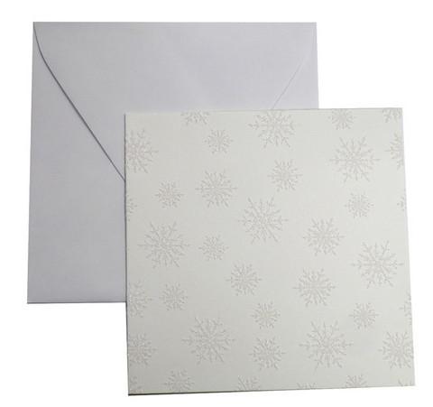 Korttipohja+kuoret: Lumihiutale 5kplkpl